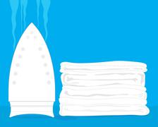 white laundry - stock illustration