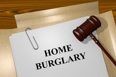 Home Burglary concept Stock Illustration