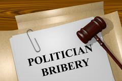 Politician Bribery concept Stock Illustration
