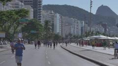 Copacabana avenue Stock Footage
