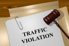 Traffic Violation concept Stock Illustration