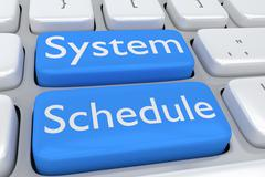 System Schedule Concept Stock Illustration