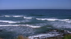 Australia Great Ocean Road surfer swims out Stock Footage