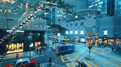 Luxury flagship stores in Central, Hong Kong - stock footage