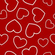 Red heart seamless Stock Illustration