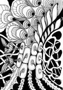 Stock Illustration of Zentangle - meditative drawing