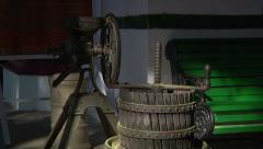 Antique Home Grinding Mill Stock Footage