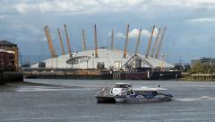 View of the millennium dome in Greenwich - stock footage