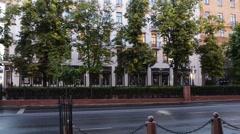 Soviet-built building in Minsk, Belarus Stock Footage