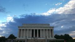 lincoln memorial exterior - stock footage