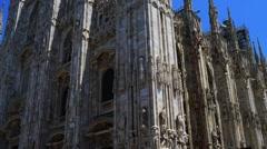 Duomo di Milano Stock Footage