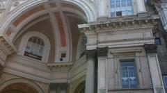 Galleria Vittorio Emanuele II in Milan Stock Footage