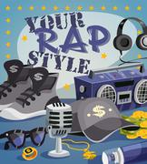Rap Music Concept - stock illustration