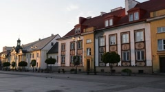 Old city in Bialystok, Poland Stock Footage