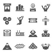 Lottery Icons Set Piirros