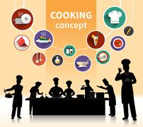 Cooking People Concept Stock Illustration