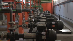 Pumping station on the production of coke and chemical Stock Footage