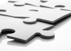 Jigsaw puzzle - stock illustration