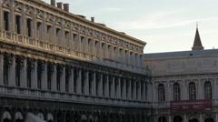 Procuratie Nuove building in Venice Stock Footage