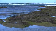 Australia Great Ocean Road tide pool and rocks Stock Footage