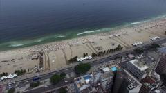 People Enjoying a Summer day in Copacabana Beach, Rio de Janeiro, Brazil Stock Footage