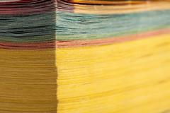 Abstract view of yellow pages book - stock photo