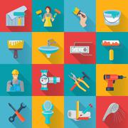 Stock Illustration of Home Repair Icons Set