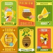 Honey Poster Set Stock Illustration