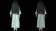 Yurei Long Hair Japanese Ghosts with Matte 1 Stock Footage