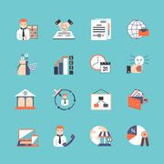 Business Icon Set Stock Illustration