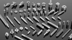 Mechanical spare parts - stock photo