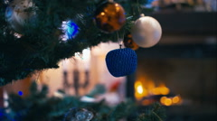 Christmas tree decorated with toys Stock Footage