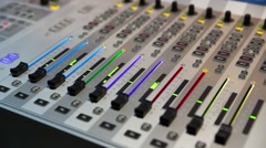 Audio Mixing Console, Sound Mixer - Defocused Stock Footage