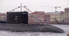 Russian Submarine 4K Stock Footage