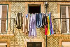 Clothing drying - stock photo