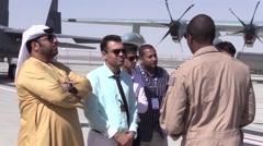 Jebel Ali United Arab Emirates, 10th November 2015, Medium Shot Pilot Talk To Stock Footage