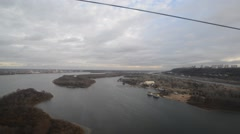 Nizhny Novgorod, Russia, views of  River Volga and a rowing channel Stock Footage