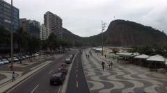 Stock Video Footage of Flying in Copacabana Beach, Rio de Janeiro