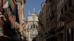 Chiesa di San Moise seen from Calle Larga XXII Marzo in Venice Stock Footage