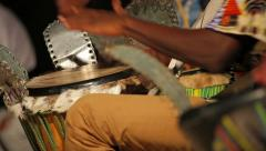 Men playing traditionals bongos Stock Footage