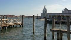 Punta della Dogana di Mare seen in the distance, Venice Stock Footage