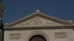 Relief sculptures on San Maurizio Church's frieze in Venice Stock Footage