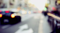 representation of urban context with out of focus and blurred background - stock footage