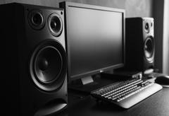 Sound recording studio Stock Photos