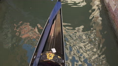 Man paddling a gondola seen from above, Venice Stock Footage
