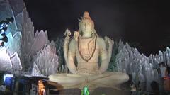 Shiva Statue Stock Footage
