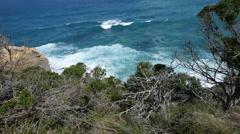 Australia Great Ocean Road waves Stock Footage