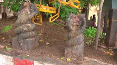 Stone Sculptures at Meenakshi Temple Stock Footage