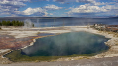 Time Lapse of Abyss Pool at West Thumb Geyser Basin in Yellowstone National Park - stock footage