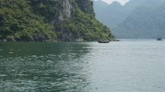 4k ha long bay vietnam cruise ship paradise beach landscape tropical holidays Stock Footage